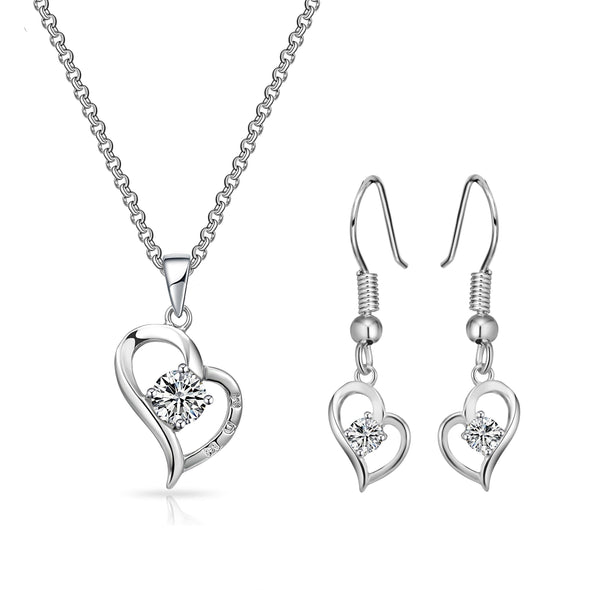 "Heart ""Mum"" Necklace and Earrings Set"
