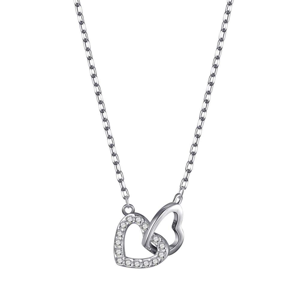 Heart Link Necklace Created with Swarovski® Crystals
