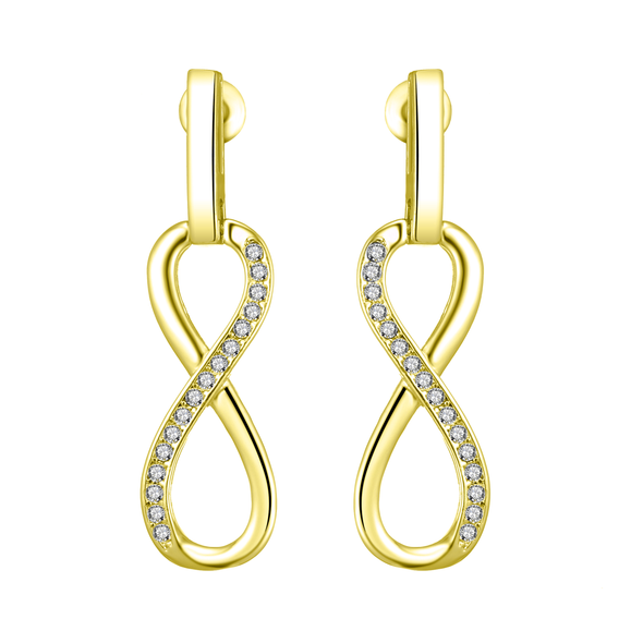 Gold-Tone Infinity Drop Earrings