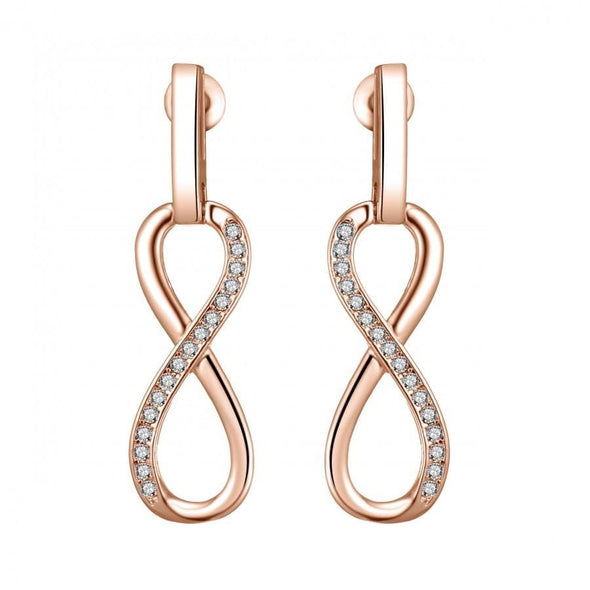 Rose Gold-Tone Infinity Drop Earrings