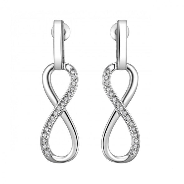 Silver-Tone Infinity Drop Earrings