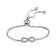Silver Infinity Friendship Bracelet Created with Swarovski® Crystals