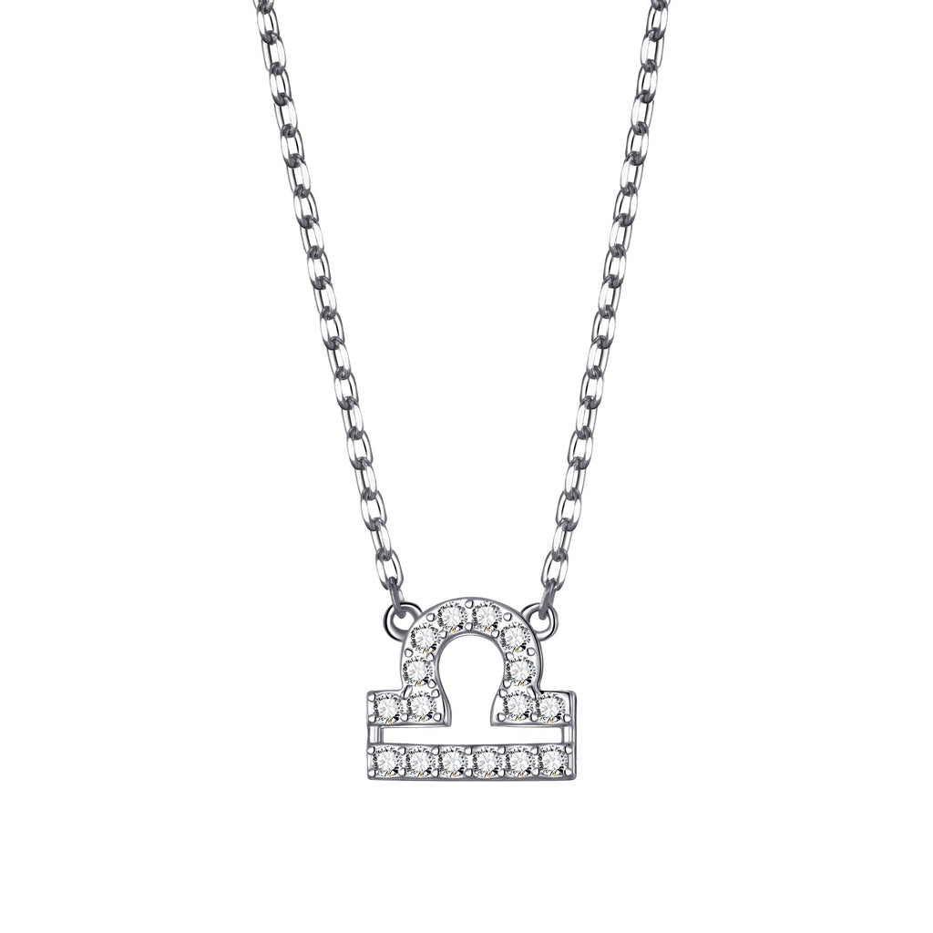 Libra Zodiac Necklace Created with Swarovski® Crystals