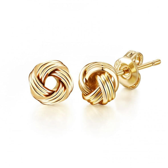 Gold-Tone Love Knot Earrings