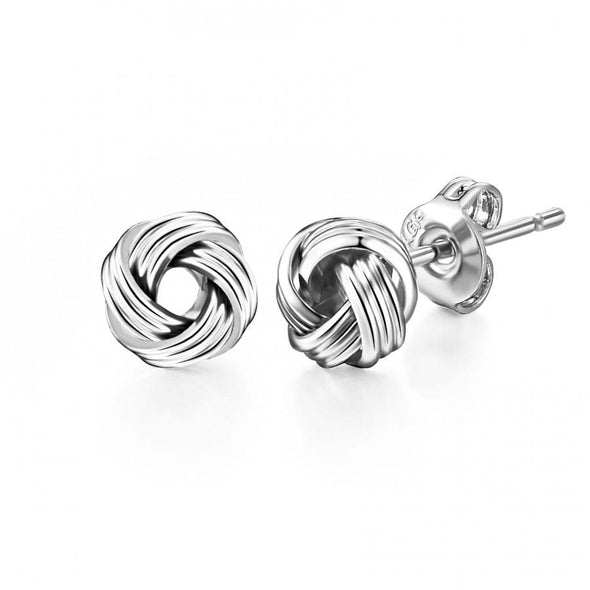 Silver-Tone Love Knot Earrings