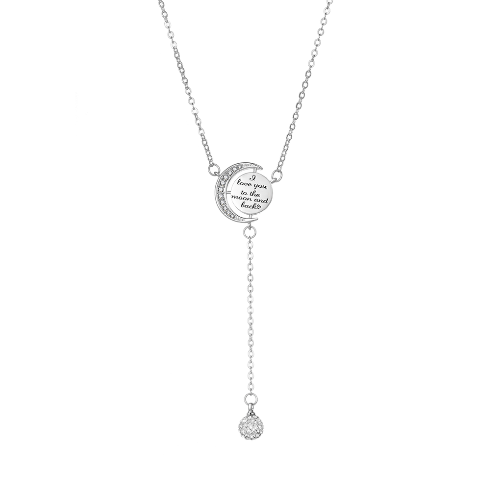 c61c629406a Silver Moon and Back Necklace Created with Swarovski Crystals by ...