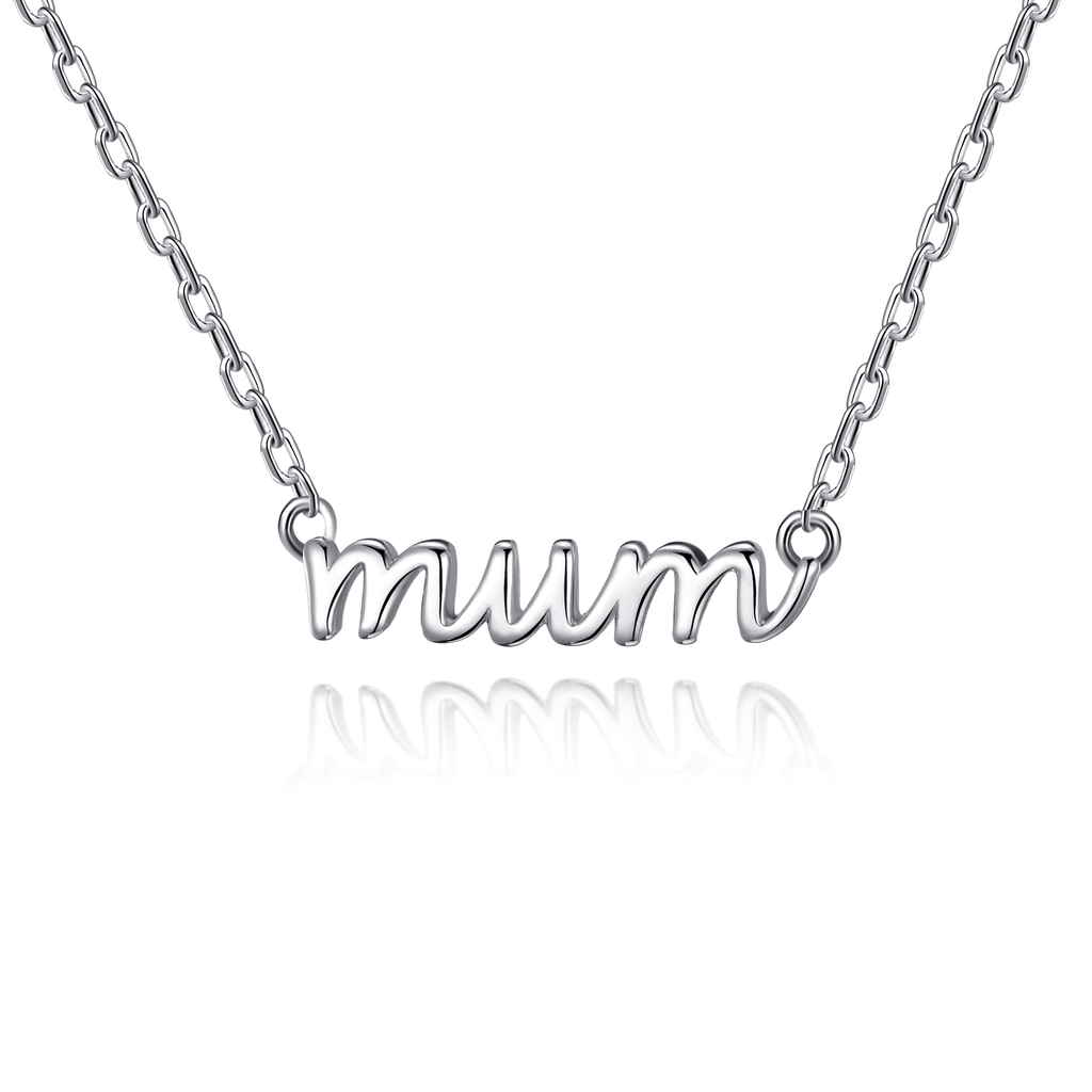 Silver Mum Necklace