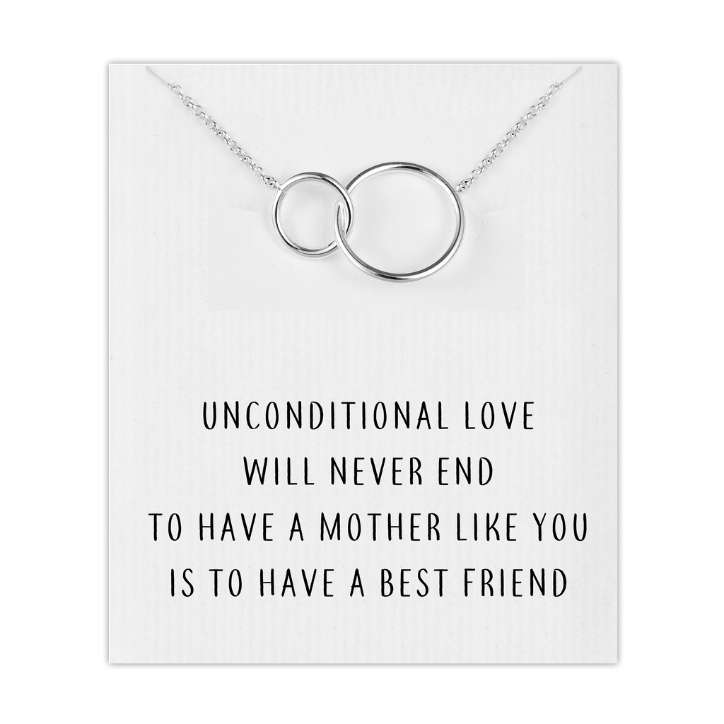 Silver Link Mum Necklace with Quote Card