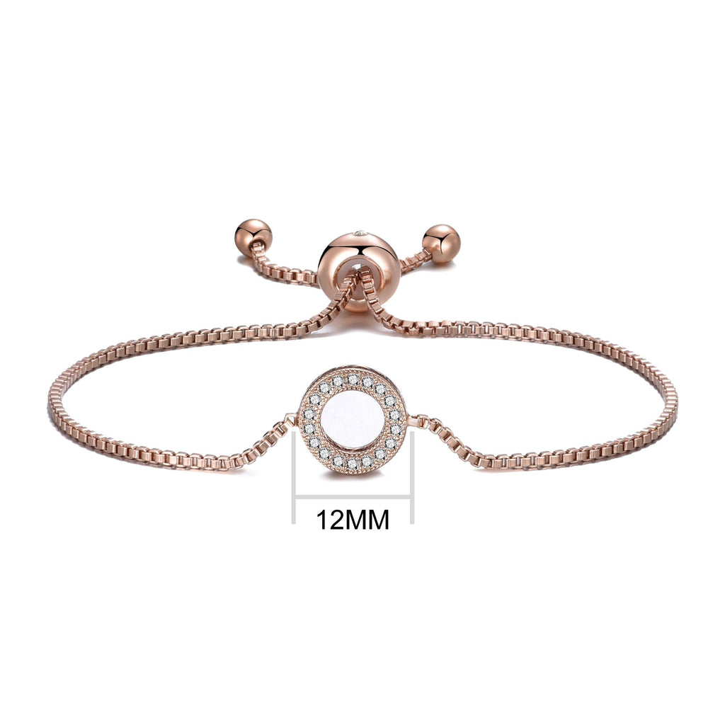 Rose Gold Circle of Life Friendship Bracelet Created with Swarovski® Crystals