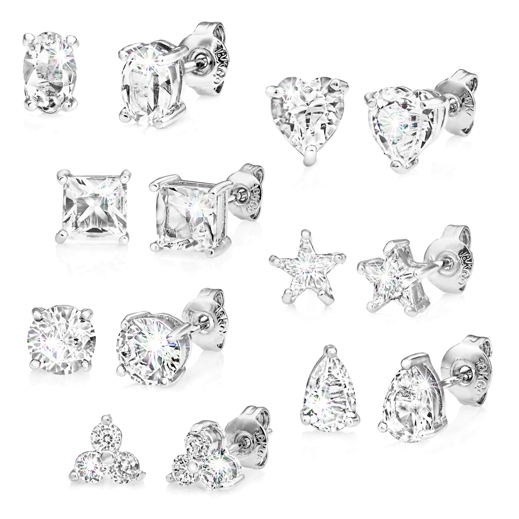 Seven Pack of Earrings Created with Swarovski® Crystals