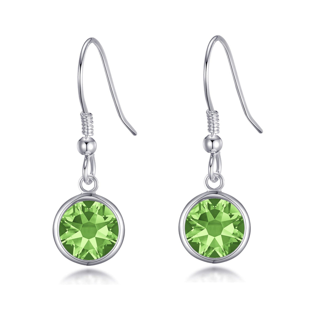 August Birthstone Drop Earrings Created with Peridot Swarovski® Crystals