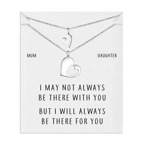 Mother Daughter Piece of My Heart Necklace Set
