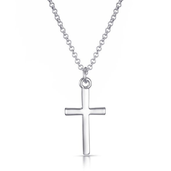 Silver-Tone Cross Necklace