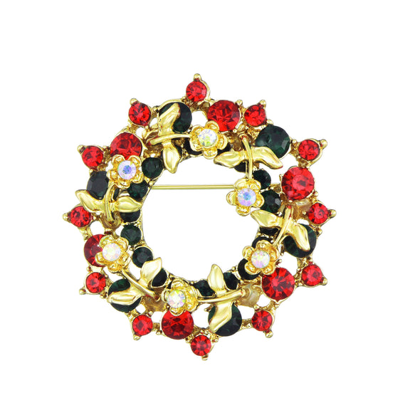Wreath Christmas Brooch