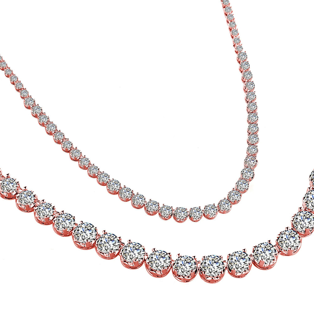 Rose Gold Crystal Zenith Necklace