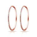 Rose Gold 50mm Hoop Earrings Created with Swarovski® Crystals