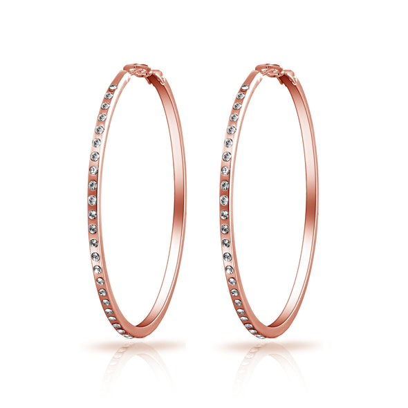 Rose Gold Plated 50mm Hoop Earrings
