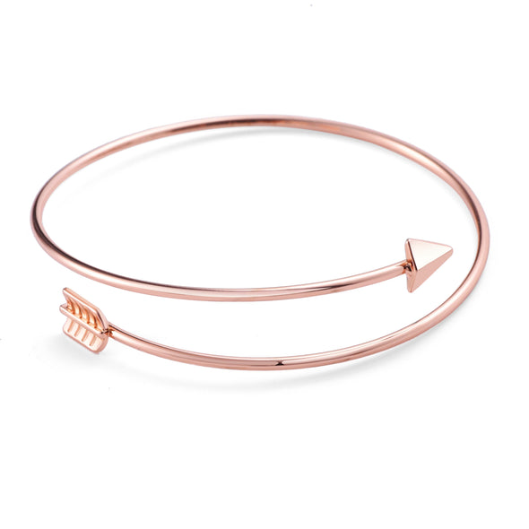 Rose Gold Plated Arrow Bangle