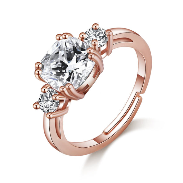 Rose Gold Plated Meghan Replica Ring Created with Swarovski Crystals
