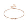 Rose Gold Infinity Anklet Created with Swarovski® Crystals
