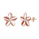 Rose Gold Sterling Silver Flower Earrings Created with Swarovski® Crystals