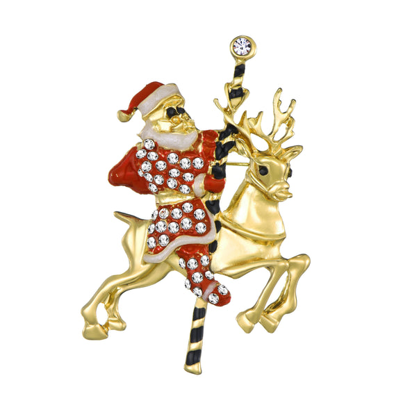 Santa Christmas Brooch