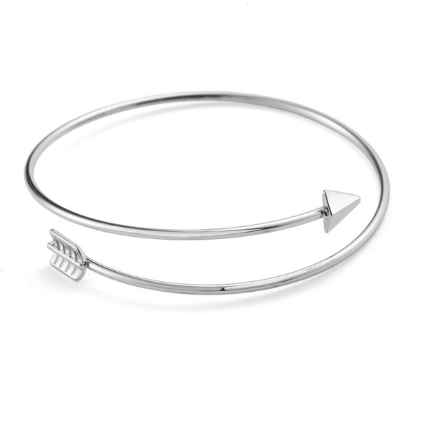 Silver Plated Arrow Bangle