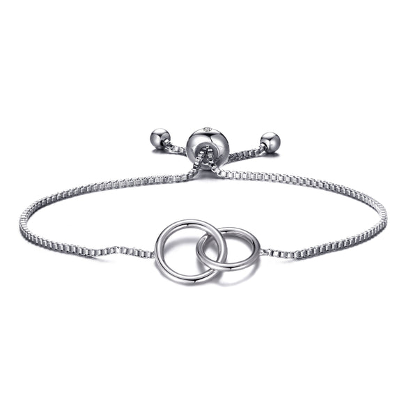 Silver Link Friendship Bracelet Created with Swarovski® Crystals