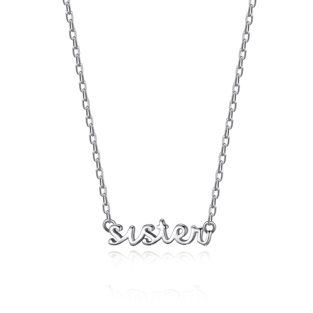 Silver Sister Necklace