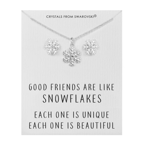 Snowflake Quote Set Created with Swarovski Crystals