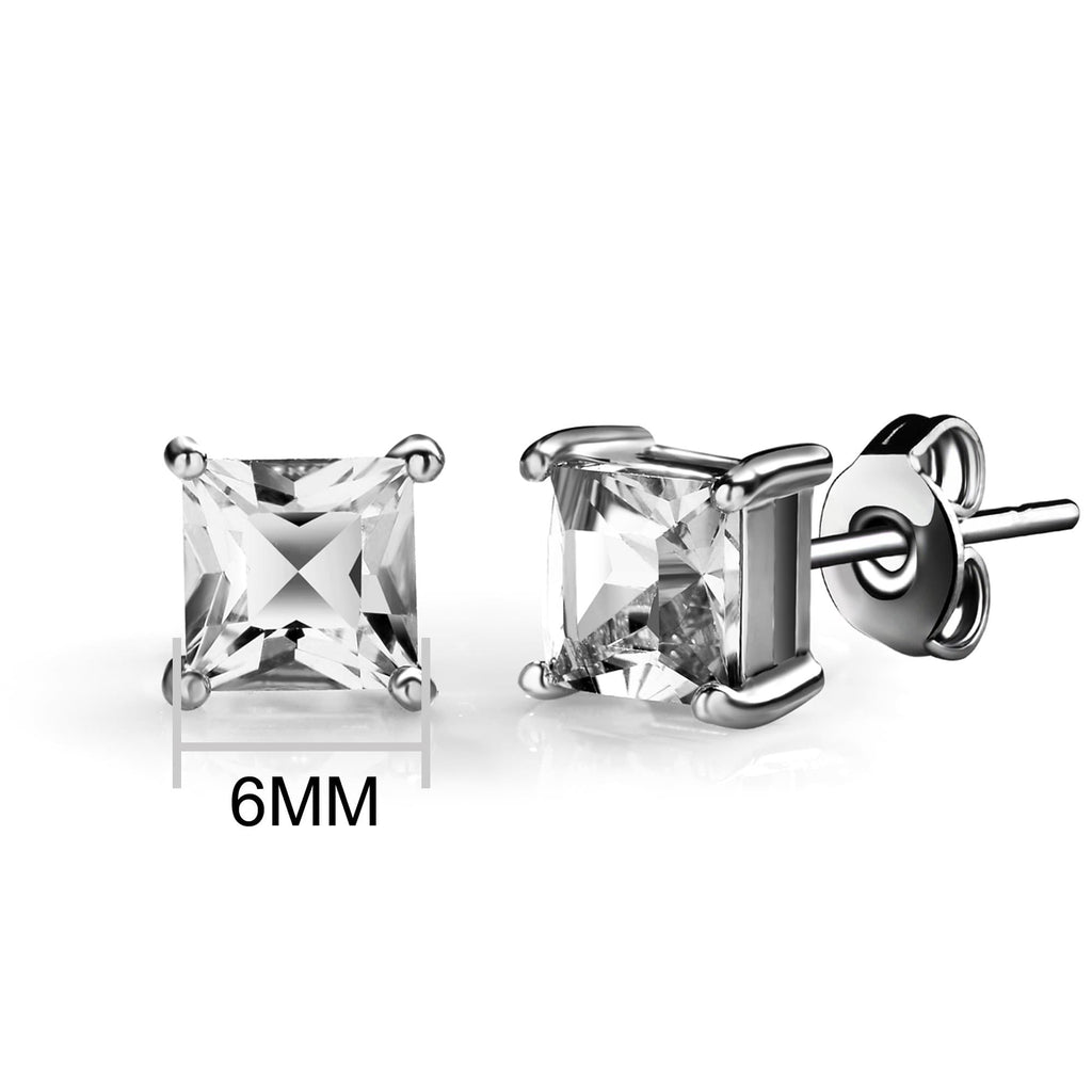 Square Earrings Created with Swarovski® Crystals