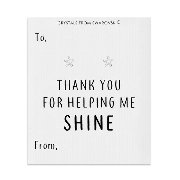Thank You For Helping Me Shine Star Earrings