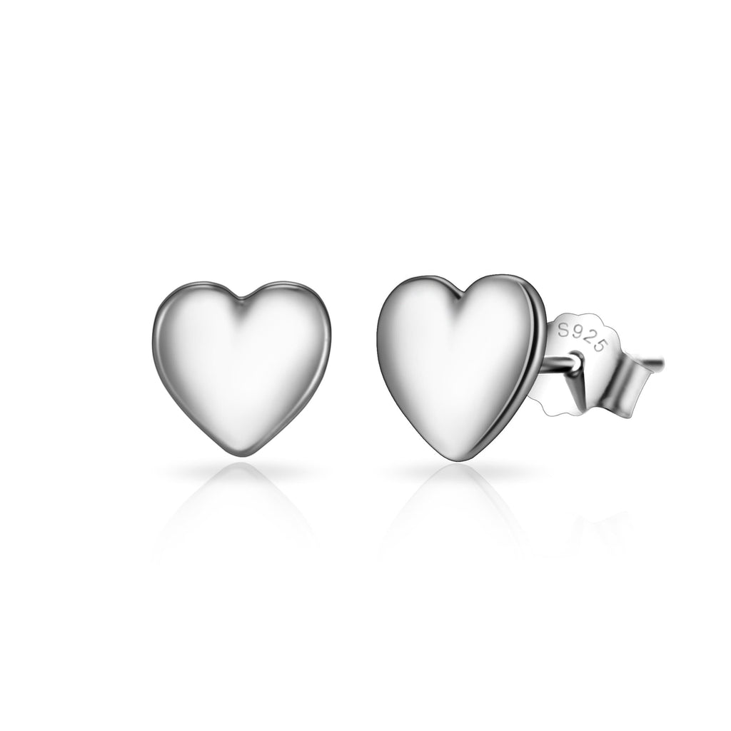 Sterling Silver Bottom of My Heart Earrings