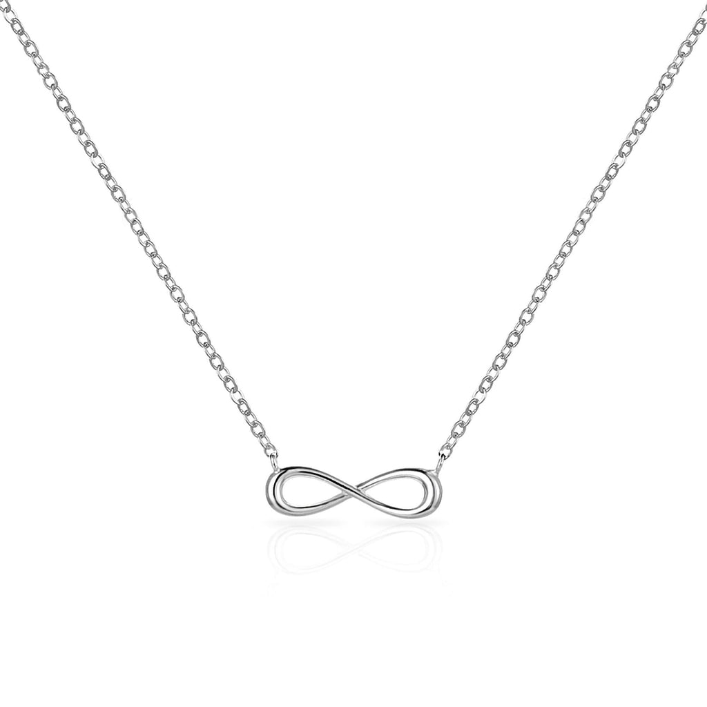 Sterling Silver Infinity Friendship Quote Set