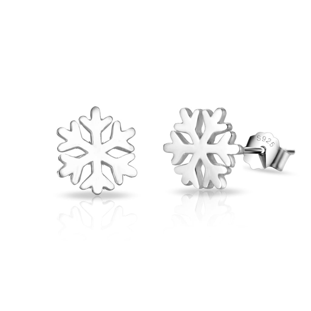 Sterling Silver Snowflake Quote Earrings
