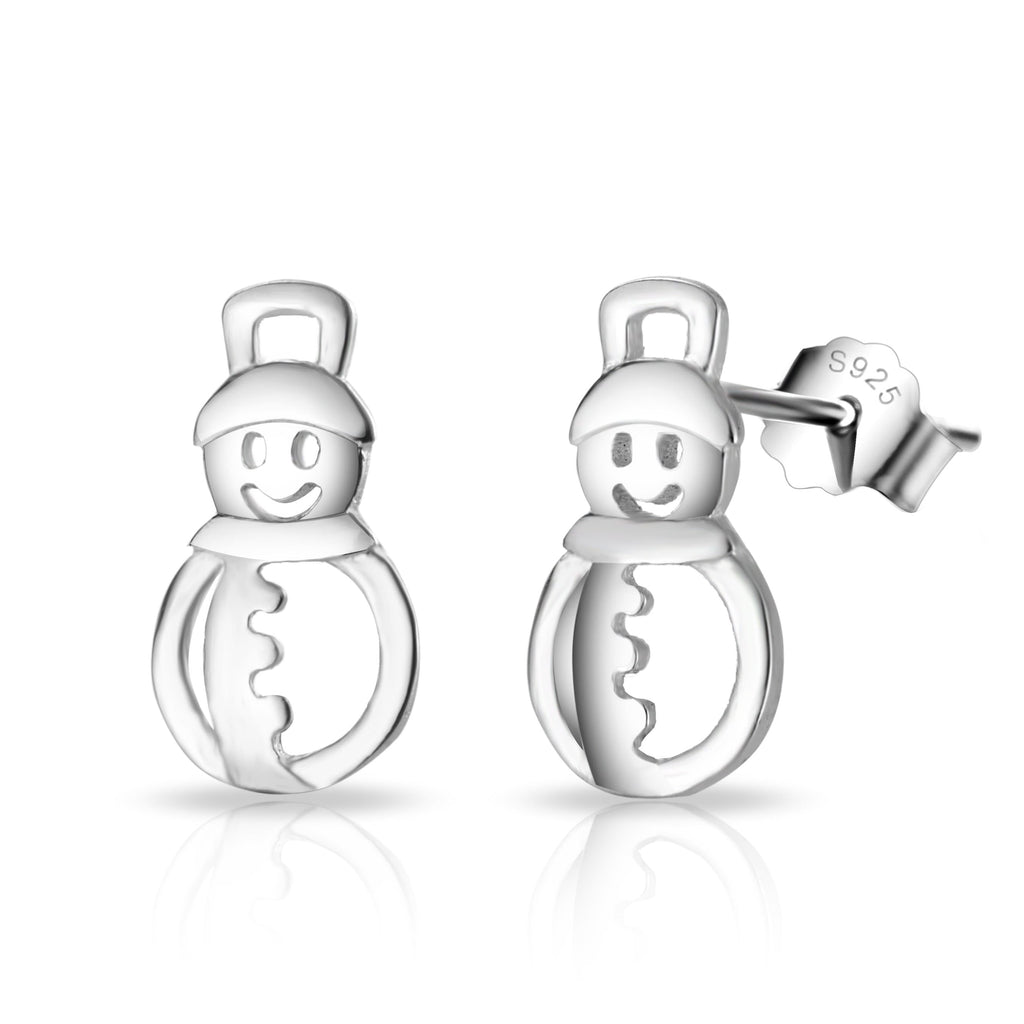Sterling Silver Snowman Quote Earrings