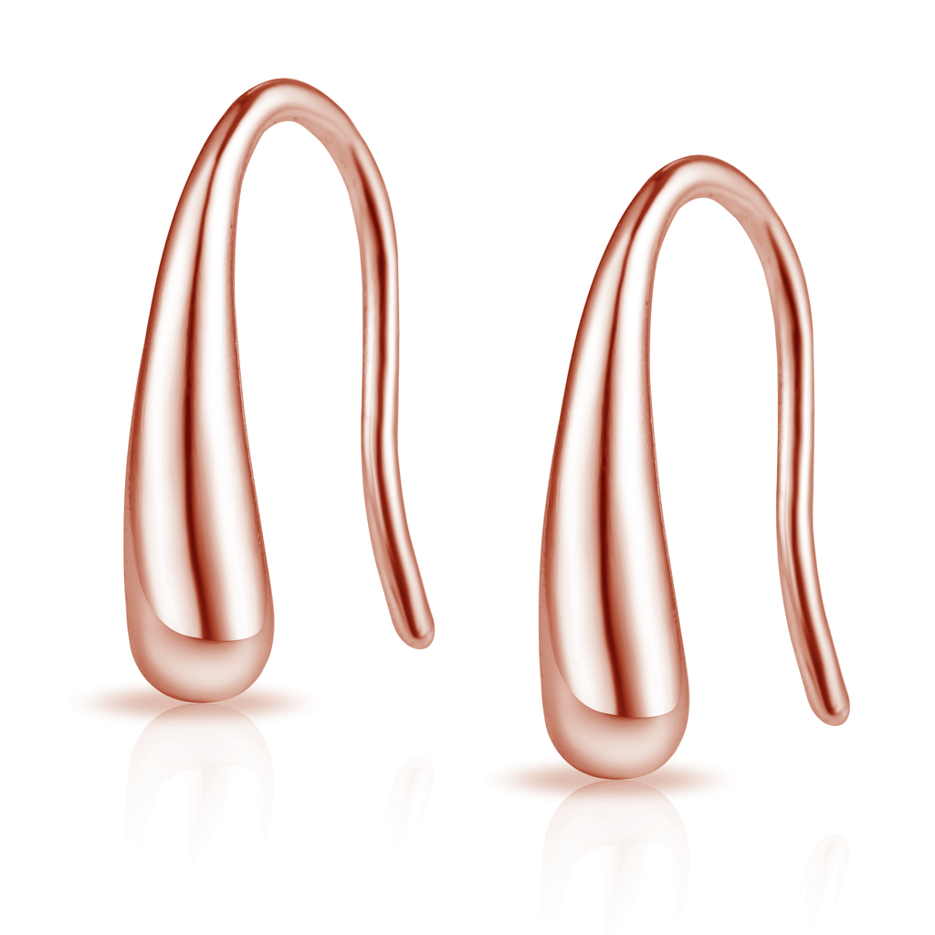 Rose Gold Sterling Silver Teardrop Earrings