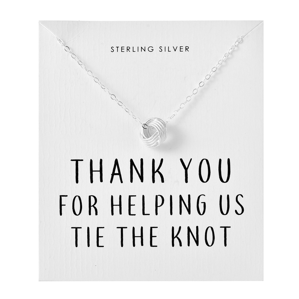 "Sterling Silver ""Tie The Knot"" Necklace"