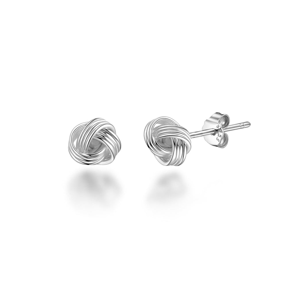 Sterling Silver 4mm Love Knot Earrings