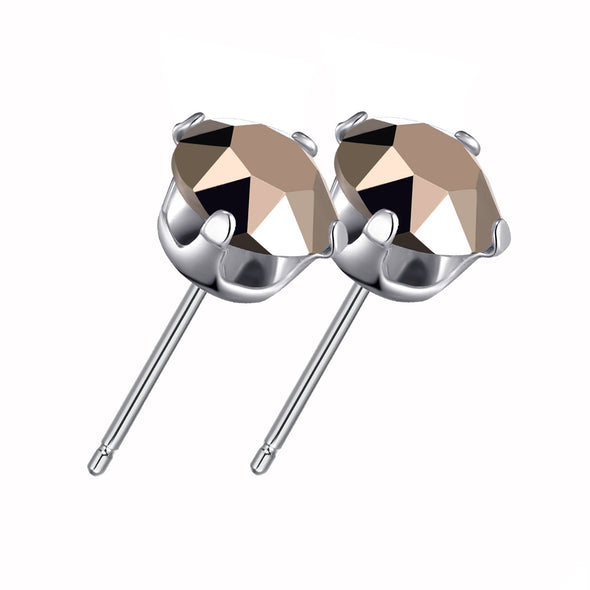 Sterling Silver Crystal Rose Gold Earrings Created with Swarovski® Crystals