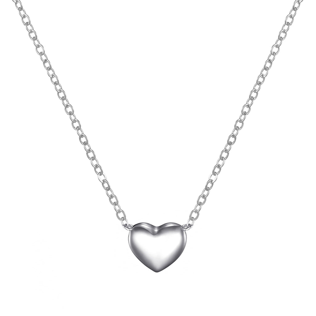 Sterling Silver Friendship Quote Heart Necklace