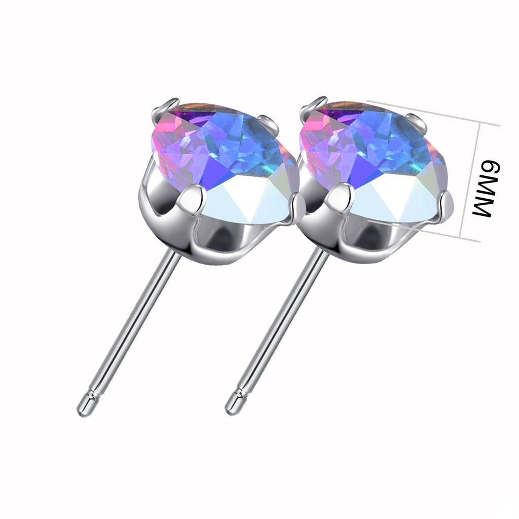 Sterling Silver Paradise Shine Earrings Created with Swarovski® Crystals