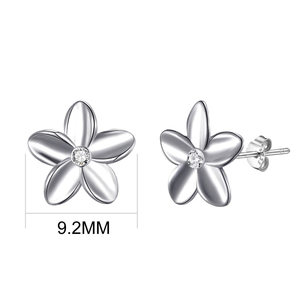 Sterling Silver Flower Earrings Created with Swarovski® Crystals