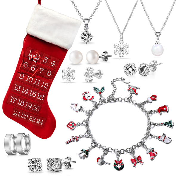 Christmas Charm Bracelet Stocking Created with Swarovski® Crystals
