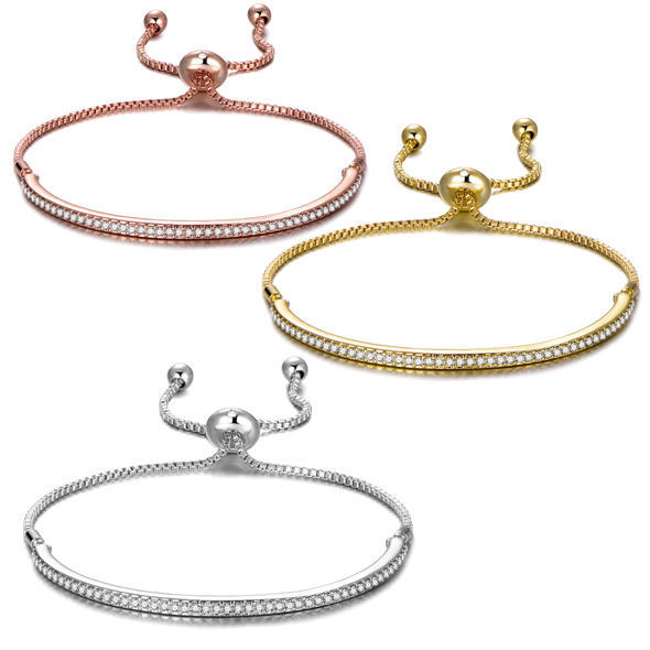 Set of Three Friendship Bracelets Created with Swarovski® Crystals