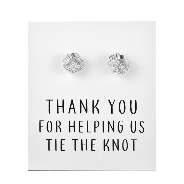"Silver Plated ""Tie The Knot"" Cufflinks"