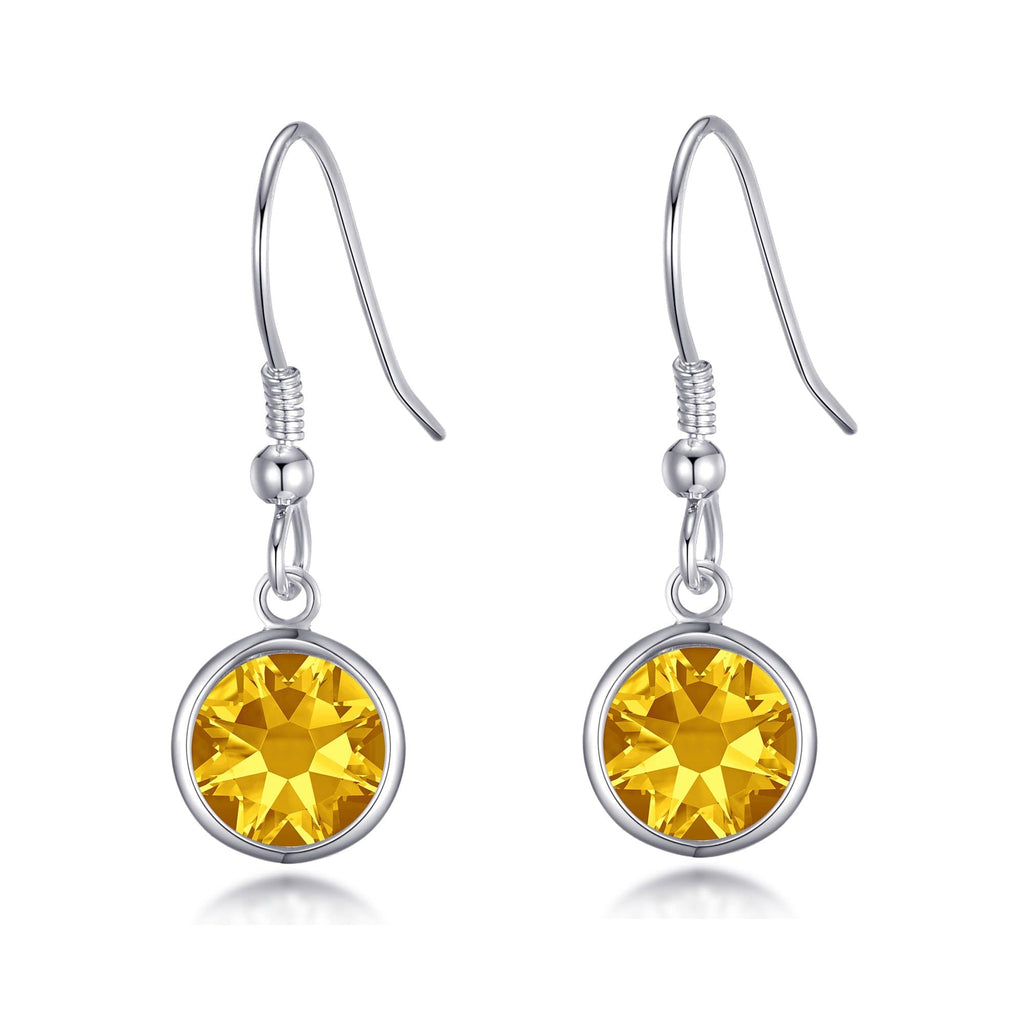 November Birthstone Drop Earrings Created with Topaz Swarovski® Crystals