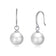 Sterling Silver White Pearl Drop Earrings