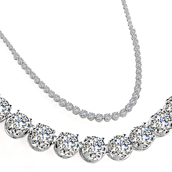 Silver Crystal Zenith Necklace