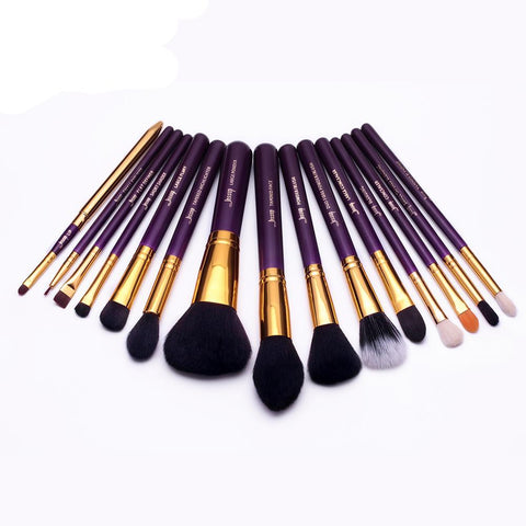 15 Piece Plum Makeup Brush Set